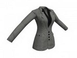 Women's business jacket 3d preview