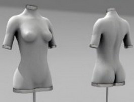 Female mannequin stand 3d preview