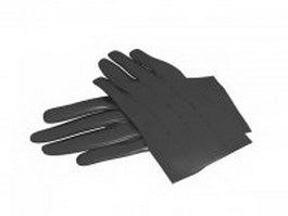 Leather glove 3d model preview