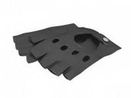 Leather fingerless gloves 3d model preview