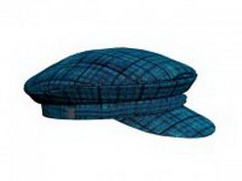 Blue sailor hat 3d model preview