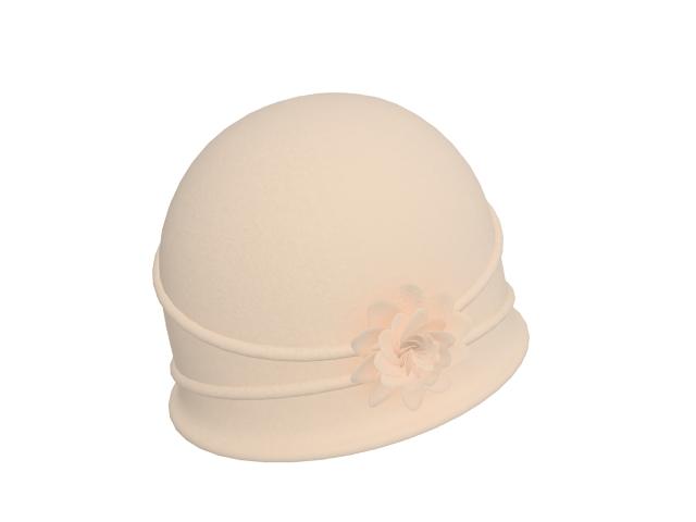 Ladies bucket cap 3d rendering