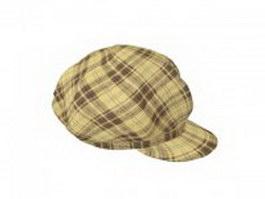 Newsboy cap for women 3d model preview