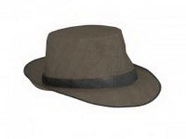 Fedora hat 3d model preview