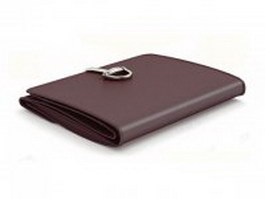 Leather trifold wallet 3d model preview