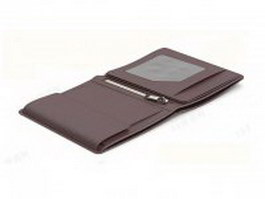 Fossil trifold wallet 3d preview