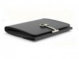 Black bifold wallet 3d preview