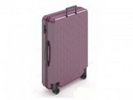 Luggage bag with wheeled 3d model preview