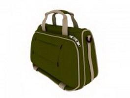 Ladies' canvas handbag 3d model preview