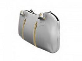 White leather handbag 3d model preview
