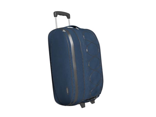 Wheeled travel bag 3d rendering