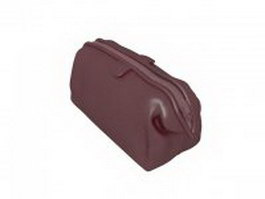 Leather handbag in brown 3d preview