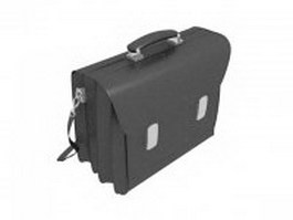 Leather laptop briefcase 3d preview