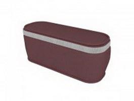 Glasses case pouch bag 3d model preview
