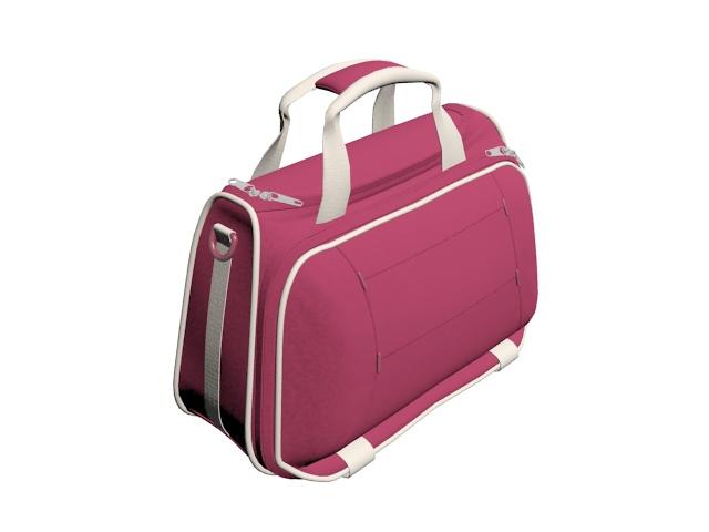 Travel bag for women 3d rendering