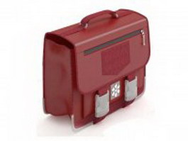 Red briefcase for women 3d preview