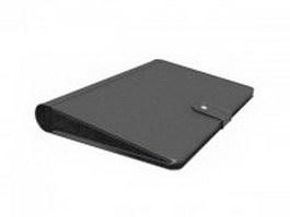 Leather portfolio folder 3d preview