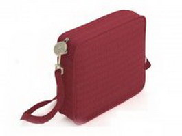 Red pouch bag for women 3d preview