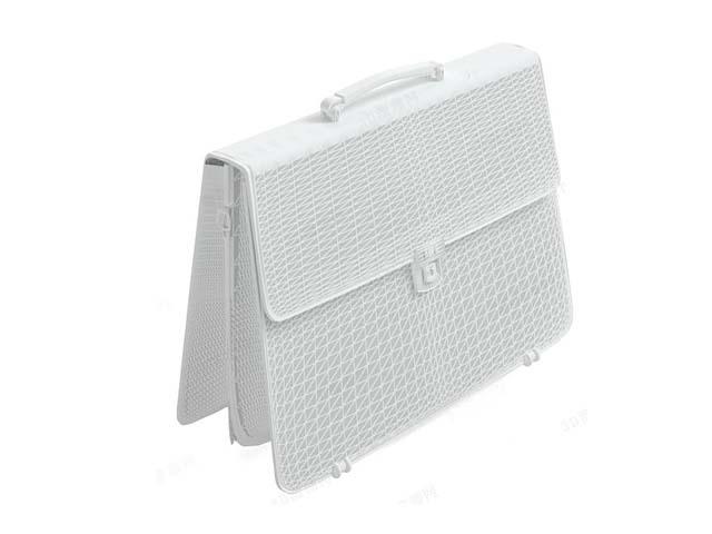 Leather satchel briefcase 3d rendering