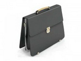 Leather satchel briefcase 3d preview