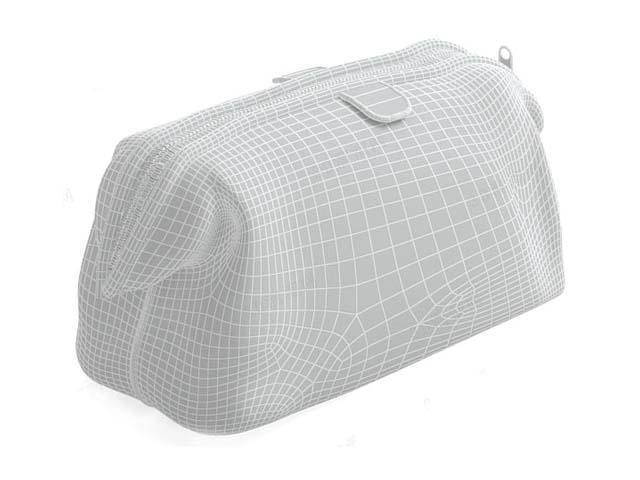 Leather travel bag 3d rendering