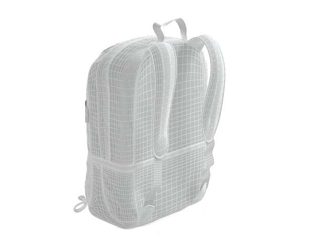 Backpack travel bag 3d rendering