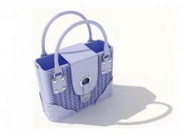 Woven basket handbag 3d preview