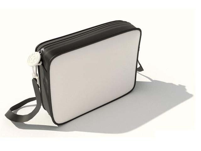 Sling bag for men 3d rendering