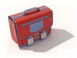 Red medical bag 3d model preview