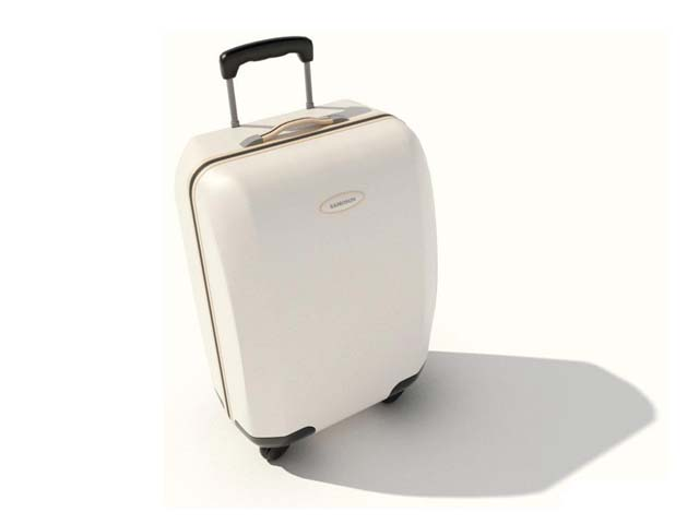 Luggage bag for girls 3d rendering