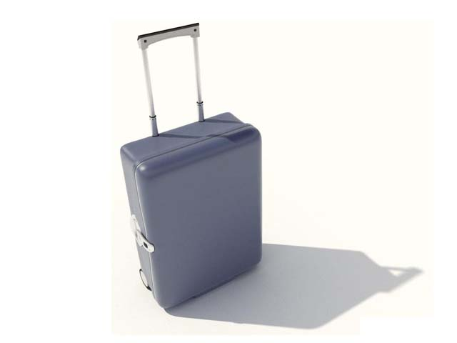 Hand luggage suitcase 3d rendering