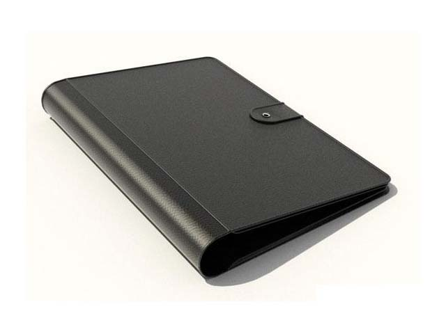 Briefcase folder case 3d rendering