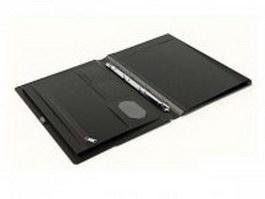 Leather portfolio case 3d preview