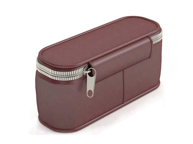 Brown waist bag for men 3d rendering