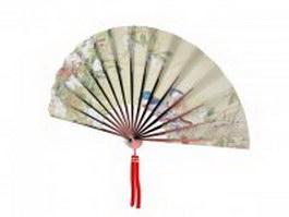 Paper folding fan 3d preview