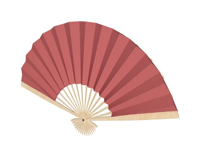 Red paper hand fan 3d rendering