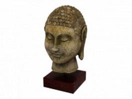 Buddha head statue 3d preview