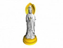 Avalokitesvara statue 3d model preview