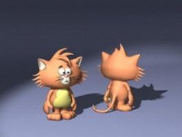 Tina cat 3d model preview