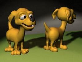 Cartoon happy dog 3d model preview