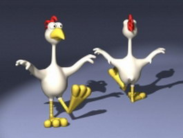 Cartoon rooster 3d preview