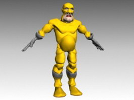 Fictional humanoid creature 3d model preview