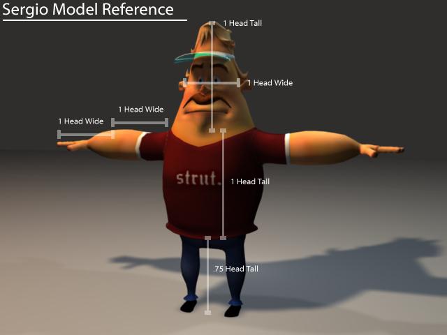 Rigged cartoon man 3d rendering