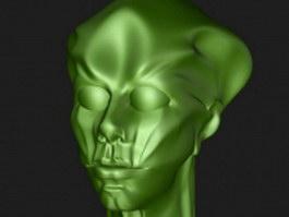 Alien head 3d preview