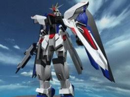 Rigged gundam robot 3d preview