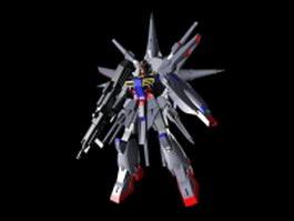 Providence Gundam 3d model preview