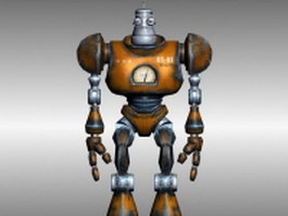 Rigged ancient robot 3d model preview
