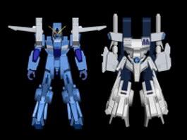 Gundam robot 3d model preview