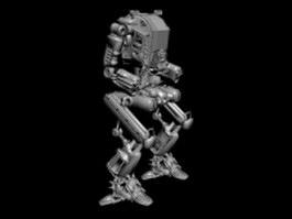 Science fiction battlemech 3d preview