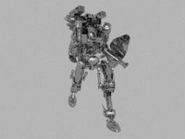 Mechanized super robot 3d preview